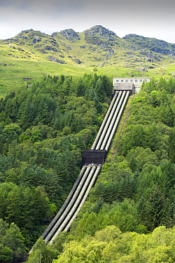 At 152 Mw the Sloy Hydro Power Station is the largest hydro power station in the UK, Loch Lomond, Scotland, UK. August