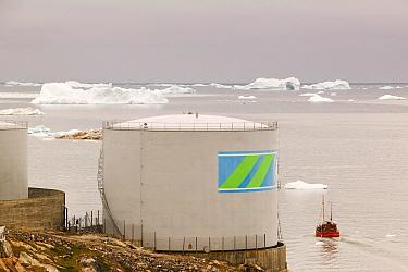 Oil tank, Ilulissat, Greenland, July 2008.