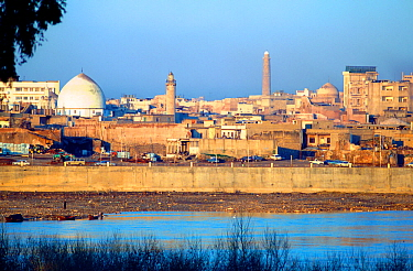 City of Mosul from the Tigris, Iraq. 1980.