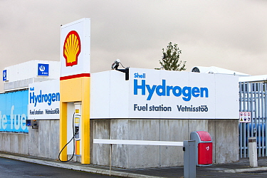 Hydrogen filling station on the outskirts of Reykavik, Iceland. The filling station is owned by Shell and is part of a project to help Iceland move from away from imported oil, to powering its vehicle...