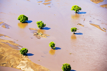 Flood waters and farmland destroyed  after the January 2015 flooding, Malawi, March 2015.