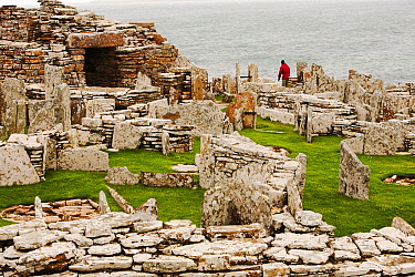 The Broch of Gurness,  the best preserved Broch in Orkney, on mainland island. This defensive building was thought to have been constructed between 100 and 200 BC. .