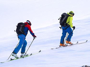 Ski Mountaineering on the Cairngorm plateau, Scotland, UK. January 2013