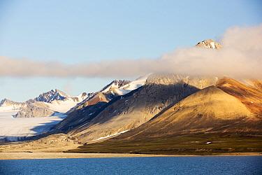 Glacier at Recherchefjorden on Western Svalbard, Norway. July 2013