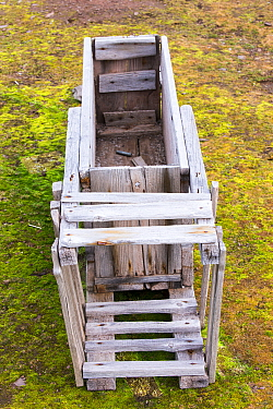 Old  Polar Bear trap at Texas Bar in Liefdefjorden on northern Spitzebergen, Svalbard, Norway. The trap would be baited with the bait attached to a string that ran to a rifle trigger, when the bear pu...