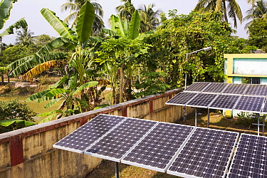 WWF project to supply electricity to a remote island in the Sunderbans, Ganges Delta, India. December 2013