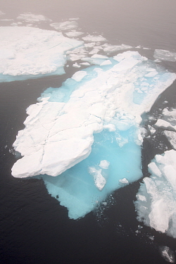 Rotten sea ice off the north coast of Svalbard, Norway July 2013
