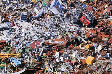 Rubbish dumped on the tundra outside Illulissat, Illulissat ice fjord Unesco World Heritage Site, Greenland, July 2008