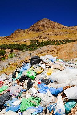 Landfill site in Eresos, Lesbos, Greece. June 2011
