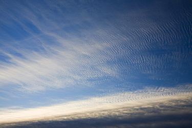 Mackerel skies over Ambleside, Cumbria, England, UK. December 2008