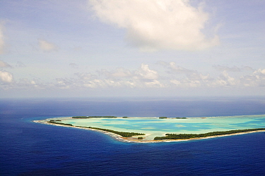 Funafuti Atoll, Tuvalu. These low lying islands are very susceptible to sea level rise, March 2007