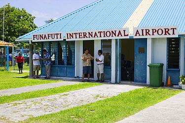 Funafuti Airport on Funafuti Atoll, Tuvalu, March 2007.