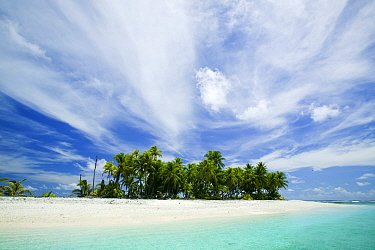 Tepuka Island, Funafuti atoll, Tuvalu.  This area is extremely low lying  and vulnerable to climate change.
