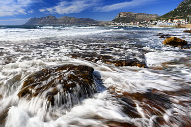 Rising tide in front of the Dalebrook tidal pool, Kalk Bay, Cape Town, False Bay, South Africa.