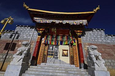 The Tibetan Lamaistic Buddhist Songtsam Monastery, Shangri-La or Xianggelila,  Zhongdian County, Yunnan, China. April 2018.