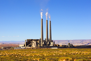 Navajo Generating Station, an coal fired power plant, Arizona, USA. April.