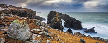 Natural Arch, Siabost, Isle of Lewis, Outer Hebrides, Scotland, UK. March, 2015.