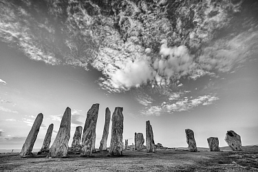 Callanish Standing Stones, Isle of Lewis, Outer Hebrides, Scotland, UK. March 2014.