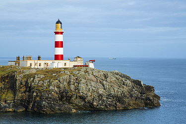 Eilean Glas Lighthouse, Scalpay, Isle of Harris, Outer Hebrides, Scotland, UK. March 2014.