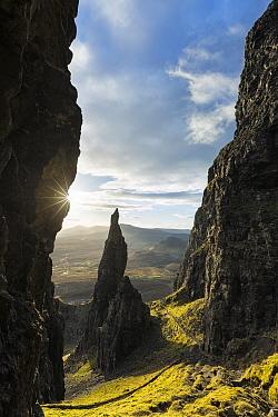 The Needle, Quiraing, Trotternish Peninsula, Isle of Skye, Inner Hebrides, Scotland, UK. January 2014.