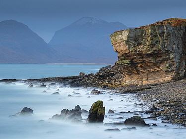 Black Cuillins from Elgol, Isle of Skye, Inner Hebrides, Scotland, UK. February 2016.