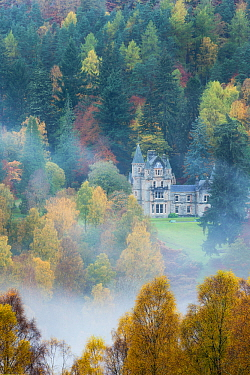 Bonskeid House, traditional Scottish country house, Linn of Tummel, Pitlochry, Perthshire, Scotland, UK. October 2013.