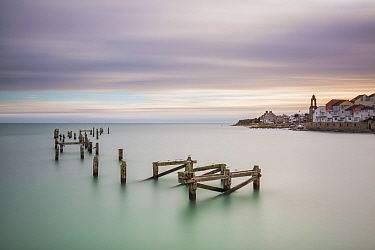 Old Swanage Pier, Swanage, Isle of Purbeck, Dorset, England, UK. December 2014.