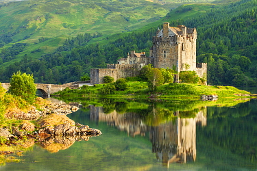 Eilean Donan Castle and Loch Duich, Kyle of Lochalsh, Highlands, Scotland, Uk. July 2012.