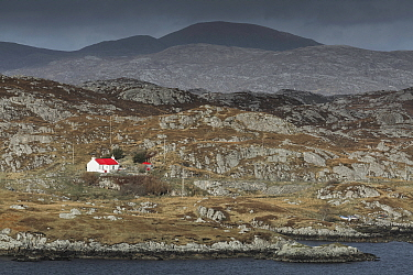 Remote croft, Geocrab, Isle of Harris, Outer Hebrides, Scotland, UK. March 2014.
