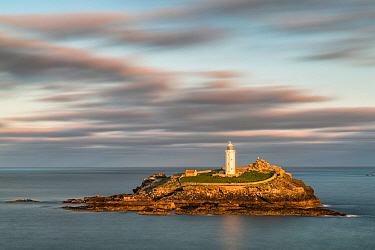 Godrevy Lighthouse, St Ives, Cornwall, England, UK. September 2015.
