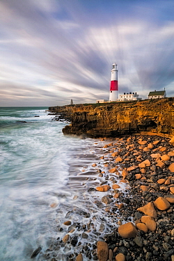 Portland Bill Lighthouse, Isle of Portland, Dorset, England, UK. November 2015.
