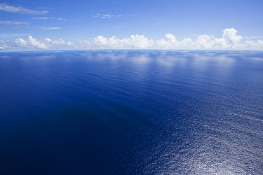 Calm conditions  on the Indian Ocean near  Mauritius