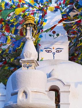 Swayambhunath Stupa, Kathmandu Valley, Nepal. February 2018.