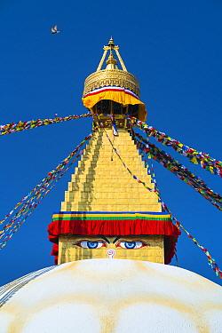 Bauddhanath / Boudhanath Stupa, Kathmandu Valley, Nepal. February 2018.