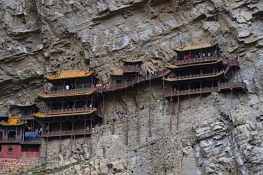 The Xuan Kong Si, or Hanging Temple, 1800 years old, Beiyue Hengshan Mountain, Datong, Hunyuan County, Shanxi Province, China
