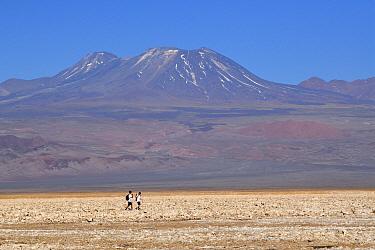 Walkers on the Salar of Atacama, Chile. September 2018.