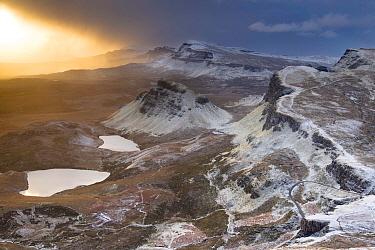 Winter sunrise at Cleat, Isle of Skye, Inner Hebrides, Highland, Scotland UK, January 2016.