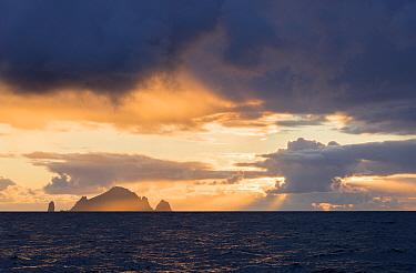 Islands of Boreray and Stac Lee, St Kilda, Outer Hebrides, Scotland, UK, July 2015.
