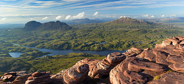 View from Cul Mor towards Suilven, Assynt, Scotland, UK, July 2017.