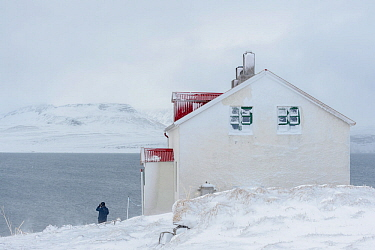 Kviar Tourist Lodge, Hornstrandir Nature Reserve, Iceland. May.