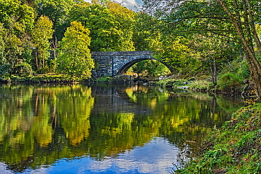 Beaver Bridge over River Conwy near Betws-y-Coed, Snowdonia National Park, North Wales, UK September 2018.
