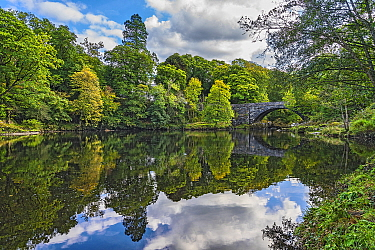 Beaver Bridge over River Conwy, near Betws-y-Coed, Snowdonia National Park, North Wales, UK, September2018.
