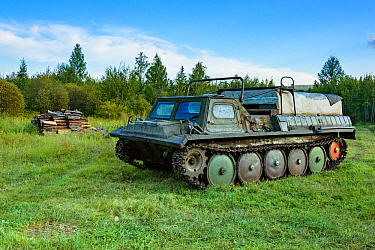 Tank, Lena River. Baikalo-Lensky Reserve, Siberia, Russia. August 2018.