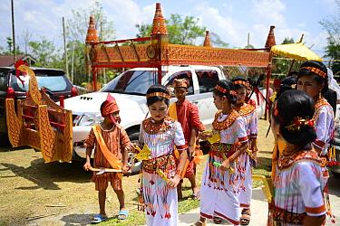 Toraja wedding celebration. Toraja is an ethnic group in West and South Sulawesi. Tana Toraja, South Sulawesi, Indonesia. 2015.