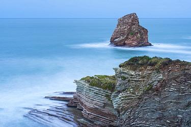 Twin Rocks of Hendaye. Pyrenees Atlantiques, Nouvelle-Aquitaine, France. December 2014.