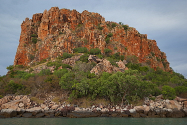 Prominent rock formation on Raft Point, Doubtful Bay, The Kimberley, Western Australia. 2015.