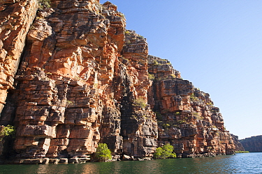 Cliffs on King George River. Koolama Bay, The Kimberley, Western Australia. 2015.