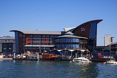 Royal National Lifeboat Institution College, Holes Bay, Poole Harbour, Dorset, England, UK, September 2018