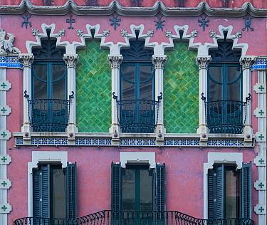 House built during period of Catalan Modernism, Olot, La Garrotxa Natural Park, Girona, Catalonia, Spain. 2019.
