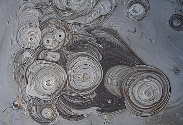 Aerial view of mud volcanoes, Azerbaijan.